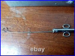 12 Antique Vintage stainless steel Surgical Catheters in Case medical equipment
