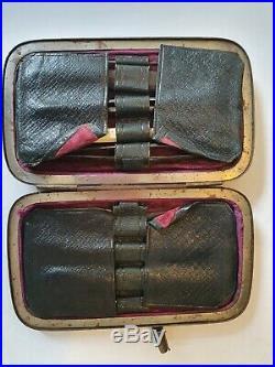1800s Antique vintage Travel Surgical Medical Instruments equipment Case set