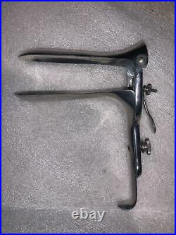1950s Vintage Gynecology Pelvic Exam Tool Stainless Steel Old Medical Equipment