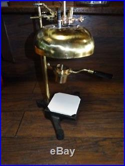 20889 Antique Unusual Brass Laboratory BURNER Vintage Medical Lab Instrument
