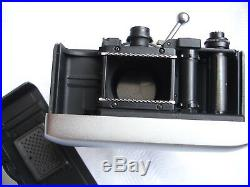 2 VTG 35mm GERMAN CARL ZEISS WERRA MICROSCOPE CAMERA BODY PRONTOR PRESS SHUTTER