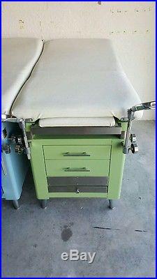 2 Vintage Coronet Doctors Medical Exam Table Light Blue / Seafoam Green  Hospital
