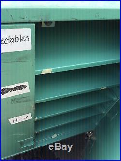 3 Piece Set Vintage Green Military Fisher Hamilton Lab Supply Shelf 8 Drawer