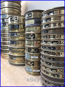 45 Vintage Old Brass Testing Sieves US Standard Highway Sift Engineering Lids