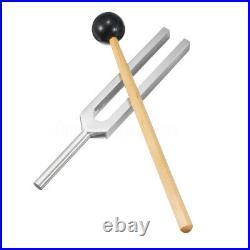 528Hz Aluminum Médical Diapason Tuning Fork Chakra Boule marteau +Maillet Set