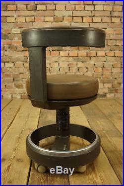 80er Siemens Drehhocker Hocker Arzthocker Loft Designer Drehstuhl Leder Vintage