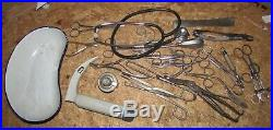 A Job Lot of Vintage Medical Surgical Equipment Tools