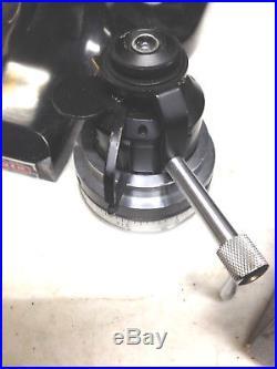 A O Spencer Vintage Microscope, Rotating Slide Platform, 3 Objectives, Condenser