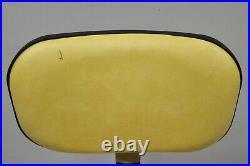 Ajusto Equipment Co Rolling Medical Dental Work Chair Stool Yellow Vinyl Seat