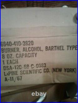 Alcohol Burner Vintage 8 Oz. Brass Barthel Type 1960's medical equipment