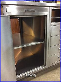 Amazing Vintage Double-sided Stainless Steel Island Made by Atlantic Alloy