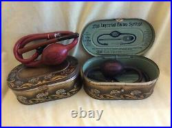 An interesting collection of vintage MEDICAL EQUIPMENT (as sold at a Chemist's)