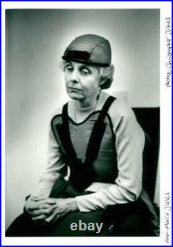 Anne-Marie Jones wearing a medical equipment Vintage photograph 987745