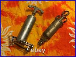 Antique Medical Syringe Equipment 2 pc. LOT Vintage
