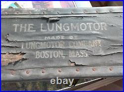 Antique/Vintage Mine Safety Machine The Lung Motor Medical Devise Boston RARE