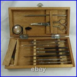 Antique medical / veterinary instrument kit doctors equipment vintage