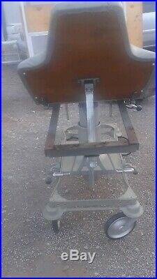 Antique vintage medical equipment Gurney Reliant hydraulic stretcher chair