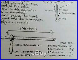Antique vintage medical equipment set of rectal instruments- rectoscopes