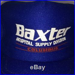 BAXTER Hospital Supply Columbus hat vintage foam cap rare medical Equipment Div