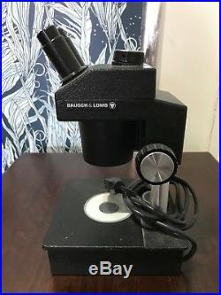 Bausch & Lomb Binocular Microscope Illuminator Model ASZ30L3, Vintage