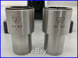 Bausch & Lomb Stereo vintage Microscope 3 sliding 2x, 4x, 7.5x Objective, 10x W. F