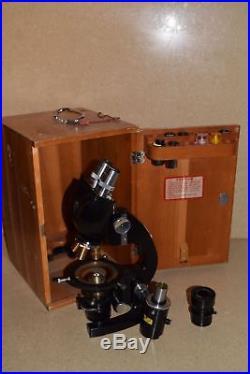 ++ Bausch & Lomb Vintage Model Edr Microscope