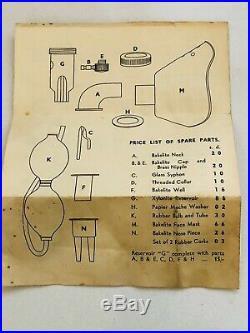 Boxed Vintage Medical PAG JUNIOR Hand Inhaler For Asthma & Bronchitis Equipment