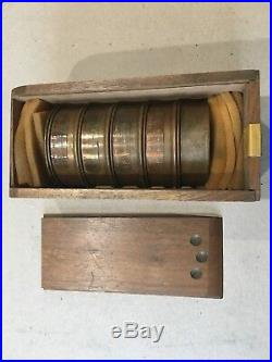 Buckbee Mears BMC Micro Mesh Soils Testing Sieve Set Wooden Case Vintage Tyler