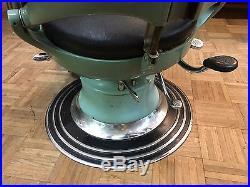C1930's Vintage Green Ritter Hydraulic / Adjustable Dentist Chair Near Mint