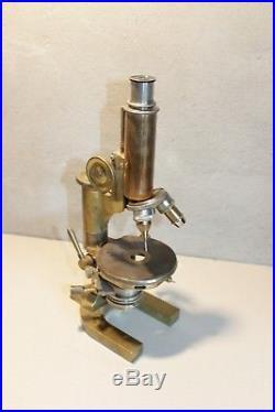 C. Reichert Wien Microscope Brass Vintage Old Mikroskop Austria Objective