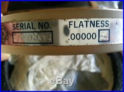 DAVIDSON OPTRONICS 6 Optical Flat PYREX D617-6 VINTAGE! Wooden case