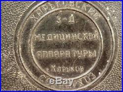 Dat 1965 VINTAGE SET LARGE SCALPEL w 2 SHARP BLADES AMPUTATION RUSSIA RUSSIAN