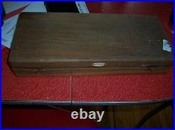 Early Vintage Medical Equipment Sigmoidoscope by national in wood box