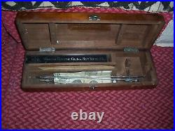 Early Vintage Medical Equipment cystoscope by buergers in wood box