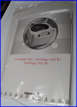 Eppendorf 5702 Centrifuge w Rotor, Buckets, 120V 60Hz, NIB, Vintage 11/ 2011