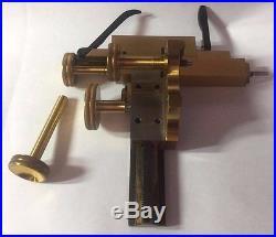 Ernst Leitz Wetzlar Vintage Brass Kreuztisch 137 Xy Microscope Mechanical Stage
