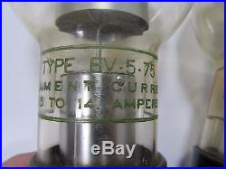 Eureka X-Ray EV-5-75 Tube Pair for Vintage Medical Equipment Filament OK