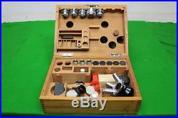 Fabelhaft Set Of Vintage Leitz Wetzlar 22-100 Mikroskop Objektiv + Okulare +