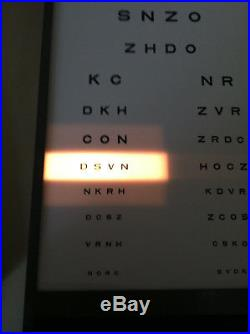GOOD LITE Visual Acuity Eye Chart Cabinet W Light, includes Remote Vintage