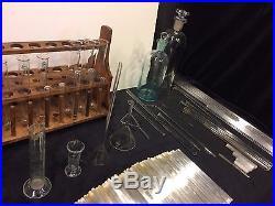 Huge Lot of Vintage Chemistry Laboratory Glassware Set
