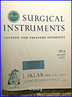 J. SKLAR Vintage Surgical Instruments, Medical Equipment Catalog, 1973, Surgery