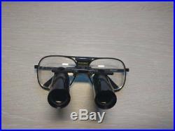 KEELER MAGNIFYING Glasses LOUPES Dental 5.5X 420 Vintage Case
