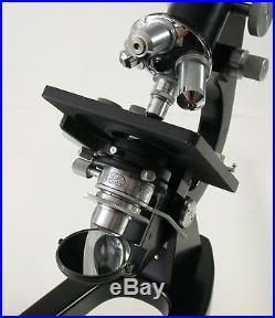 LEICA Mikroskop microscope Trafo Licht light 6 lens Objektive Leitz vintage top