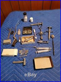 Large Lot Vintage Medical Doctor Instruments Equipment