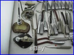 Lot 75 Vintage Antique Medical Tool Supplies Saw Picks Headlamp Ventilator Mask