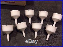 Lot Of 8 New In Box Vintage Coors Porcelain Buchner Funnel 49003 Ceramic Lab