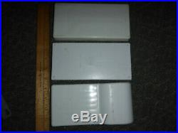 Lot of 3 Vintage Plastic Dental Trays Tool Holders Medical equipment compartment