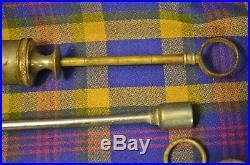 Lot of 4 Vintage Metal Medication Dispensing Veterinarian Tools/Equipment