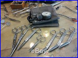 Lot of Vintage Medical Tools Otoscope Storz Boilo V. Mueller Tycos Wyeth ACMI