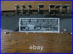 Marbel Blood Cell Calculator Vintage Medical Equipment